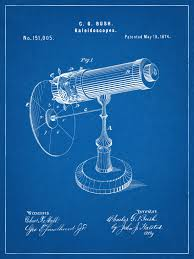 tech wall art patent 1874 kaleidoscope wall art print game patent toy early