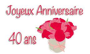40 ans de mariage carte anniversaire mariage 40 ans bouquet