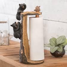 novelty toilet paper holder black bear decor u0026 bear gifts black forest decor
