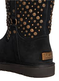 ugg eliott sale lyst ugg elliott studded boots in black