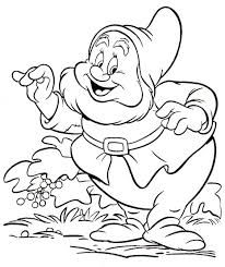 kids 7 snow white dwarfs coloring pages