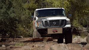 ferrari off road nissan nv cargo x is a totally sweet rock crawling cargo van
