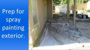 Exterior House Painting Preparation - preparation for spray painting house exterior youtube