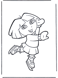 dora explorer coloring pages 124 free printable coloring