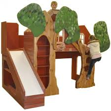 Treehouse Theme Bed With Slide - Treehouse bunk beds