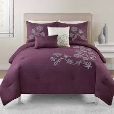 Plum Bed Set Grey And Purple Comforter Bedding Sets