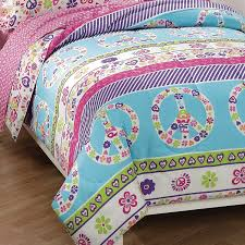 Girls Zebra Bedding by Amazon Com Dream Factory Peace And Love Peace Signs Girls