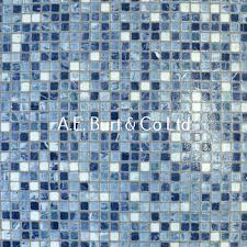 Napa Milo  Vinyl Flooring Kitchen Bathroom Blue Mosaic   M - Cheap bathroom vinyl flooring 2