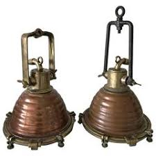 copper and brass wiska beehive nautical boat light for sale at 1stdibs