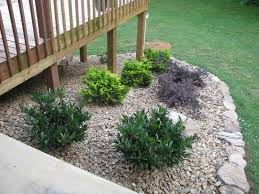 landscaping around a deck lightsonthelake rock garden around
