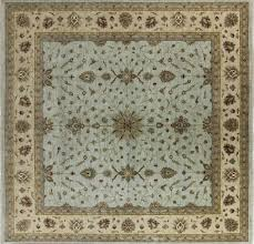 Square Wool Rug New Real Pakistani Chobi Peshawar 15 U0027 Square Hand Knotted Blue