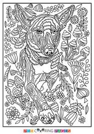 free printable black tan coonhound coloring
