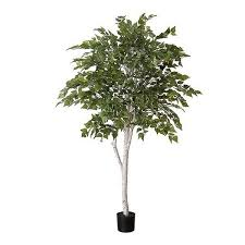 artificial birch tree with white trunk 152cm 5ft artificial