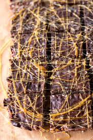 Halloween Crispy Cakes Salted Dark Chocolate Caramel Rice Krispie Treats Savory Nothings
