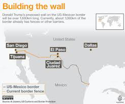 map usa mexico border signs order for mexico border wall news al jazeera
