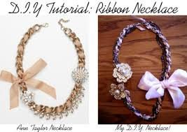 ribbon necklace images Diy tutorial ribbon necklace college fashion jpg
