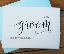 to my groom on our wedding day card to my groom on our wedding day card shimmer envelope to my groom