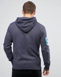 superdry hoodie with logo print and arm detail grape juice jap men