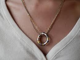 metal circle necklace images Tri metal circle necklace by maya 39 s ideas maya 39 s ideas jpg