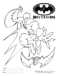 Batman Coloring Pages For Kids Printable Batman Coloring Pages For