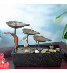 buy take me home step metal leaves led rectangular table fountain