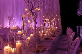 wedding decoration decor themes white gold with a splash of purple lighting i do