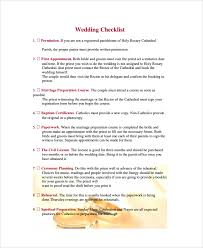 Catholic Wedding Booklet Sample Wedding Checklist 19 Documents In Pdf Word