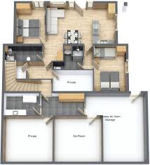 ground floor catered apartment flexi catering package floorplan of chalet la rocade ground floor