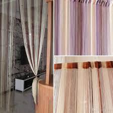 2017 mixed colorful line string window curtain tassel door room
