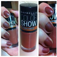 maybelline color show nail polish u2013 vintage leather ruthelsa