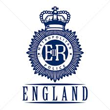 uk metropolitan police emblem label vector image 1601014