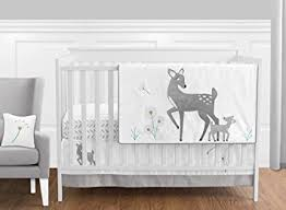 amazon com grey gold and white forest deer and dandelion or