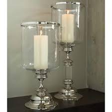 Hurricane Candle Holders 23 Hurricane Candle Holder Clear Glass Nickel Base Top