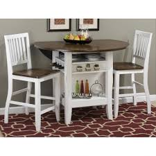 home design nice white 3 piece dining set room sets home design