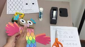 who u0027s hootin u0027 paper bag owl puppet craft tutorial from musick8