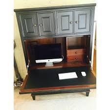 Arhaus Bar Cabinet Arhaus Alderson Black Oak Computer Desk Cabinet Chairish