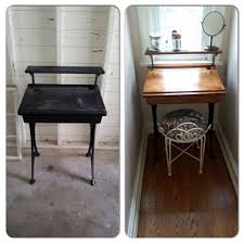Small School Desk by Old School Desk I Revamped Into My New Small Vanity I U0027m In Love