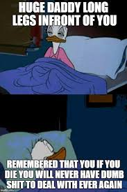 Meme Donald Duck - sleepy donald duck in bed imgflip