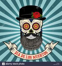 dia de los muertos sugar skulls day of the dead dia de los muertos sugar skull with beard and