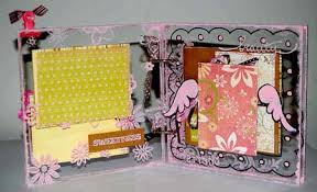 baby girl scrapbook album acrylic scrapbook mini album