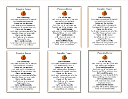 pumpkin prayer template perfect for the inside of a halloween