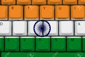 The Indian Flag Computer Keyboard With The Indian Flag On It Internet In India