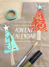 make an easy paper bag advent calendar an surprise u0027 and em