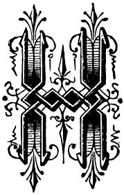 h ornamental letter clipart etc