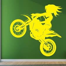 compare prices on biker wall sticker online shopping buy low free shipping wall vinyl sticker home decor motorbike girl biker speed banked emotions art pvc removable