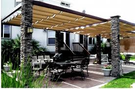 Canvas Awnings For Patios Creative Outdoor Patio Shades Awnings From Retractable Canvas Roof