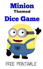 activity mom free printable minions dice game