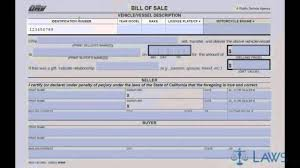 As Is Car Bill Of Sale by Bill Of Sale Youtube