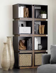 bookshelves white bookshelf parsons tower modern shelving modern