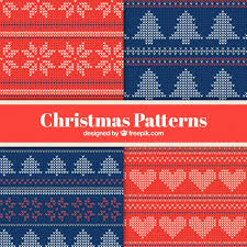 christmas pattern knit fabric set of knitted christmas patterns vector free download
